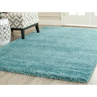 Holliday Aqua Blue Area Rug Rug Size: Square 10