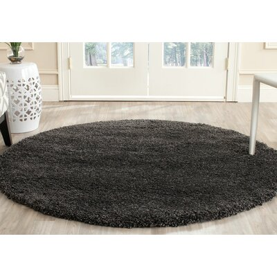 Brayden Studio Heriberto Dark Gray Area Rug
