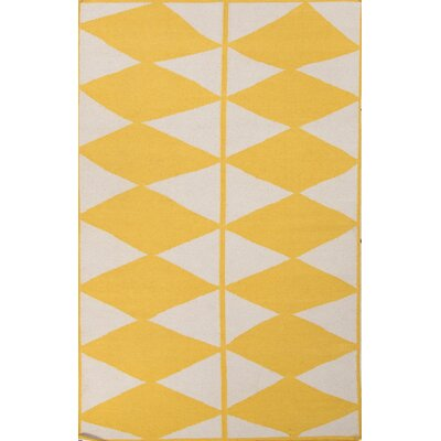 Disalvo Yellow/Ivory Geometric Area Rug Rug Size: 8 x 11