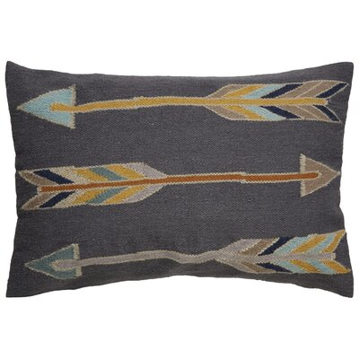 Faulks Arrow Pattern Throw Pillow Color: Grey / Yellow