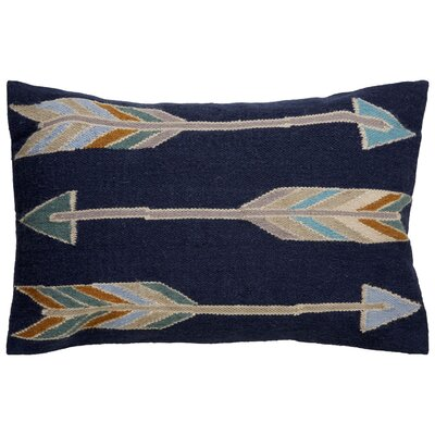 Faulks Arrow Pattern Throw Pillow Color: Blue / Taupe