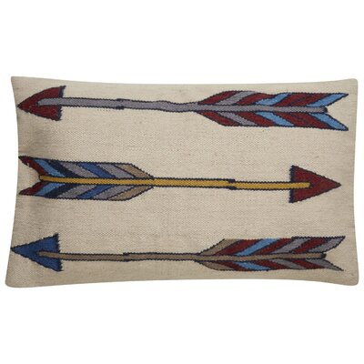 Faulks Arrow Pattern Throw Pillow Color: Taupe / Brown
