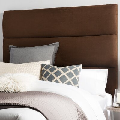 Franklin Square Upholstered Panel Headboard Size: Queen, Upholstery: Chocolate Brown