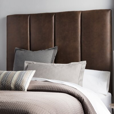 Franklin Square Upholstered Headboard Size: Queen, Upholstery: Brown
