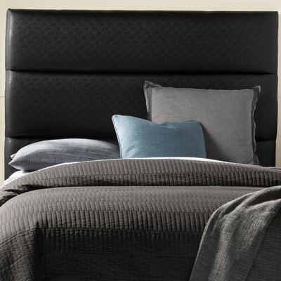 Franklin Square Upholstered Headboard Size: Queen, Upholstery: Black