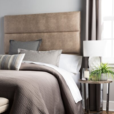 Aoki Upholstered Panel Headboard Size: Full, Upholstery: Beige