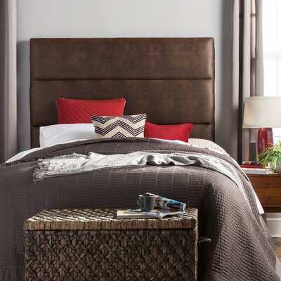 Aoki Upholstered Panel Headboard Size: King, Upholstery: Brown