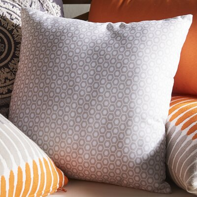 Carignan Throw Pillow Size: 16 H x 16 W, Color: Oatmeal