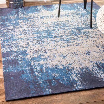 Alioth Blue Area Rug Rug Size: 76 x 96