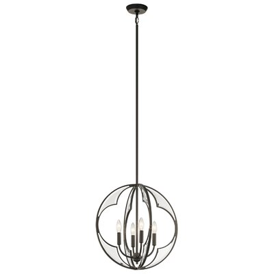 Grisham 4-Light Globe Pendant Finish: Olde Bronze