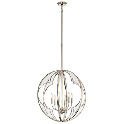 Grisham 6-Light Globe Pendant Finish: Polished Nickel