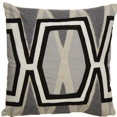 Crabb Pattern Linen Throw Pillow