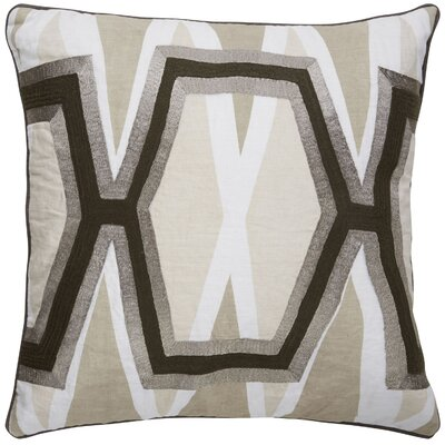Crabb Geometric Pattern Linen Throw Pillow