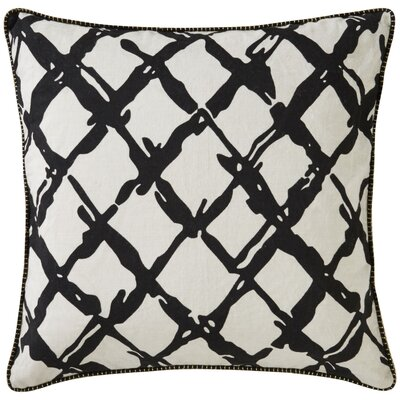 Crabb Barbwire Pattern Linen Throw Pillow