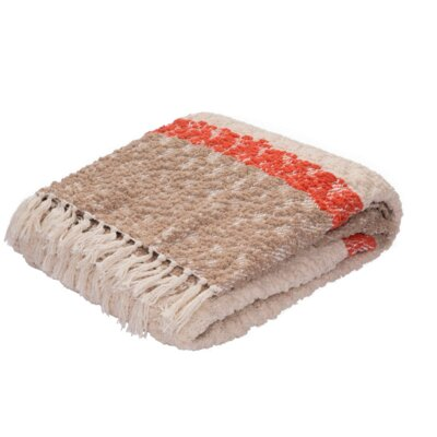 Broadnax Throw Color: Ivory/Taupe