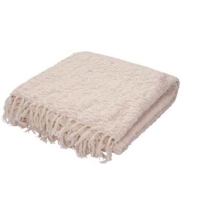 Broadnax Throw Color: Ivory/White