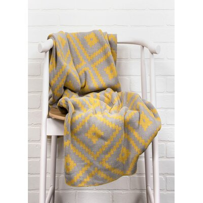 Behn Handloom Modern Cotton Throw Blanket