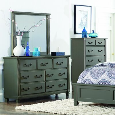 Steigerwald 7 Drawer Dresser with Mirror
