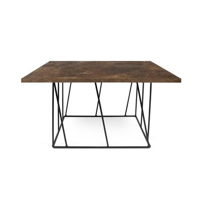 Grimes Coffee Table Base Color: Black Lacquered Steel, Top Color: Rusty Look