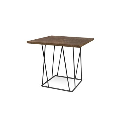 Grimes Coffee Table Base Finish: Black Lacquered Steel, Top Finish: Rusty Look