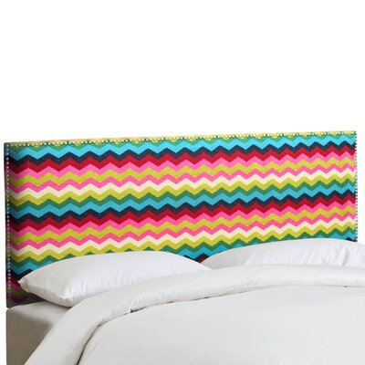 Regil Panama Wave Upholstered Panel Headboard Size: Full