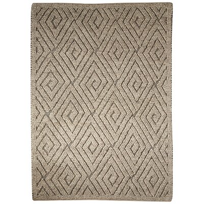 Plush Joshua Hand-Woven Wool Taupe Area Rug Size: Rectangle 2 x 3