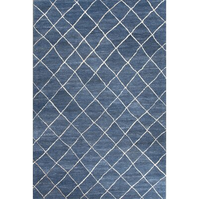 Englert Hand-Tufted Wool Blue/Ivory Area  Rug Rug Size: Rectangle 95 x 135