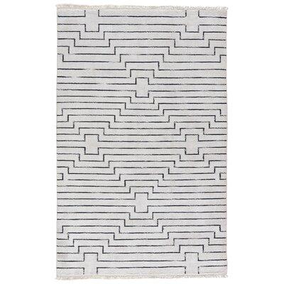 Geist Vaporous Hand-Loomed Gray/Raven Area Rug Rug Size: 2 x 3