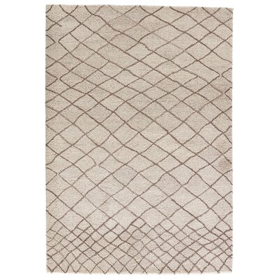 Casner Hand-Tufted Cloud Cream/Chocolate Chip Area Rug Rug Size: 2 x 3