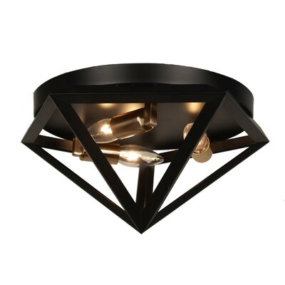 Ohalloran 3-Light Flush Mount Finish: Antique Brass