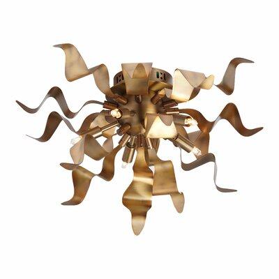Townson 5-Light Flush Mount Finish: Vintage Bronze