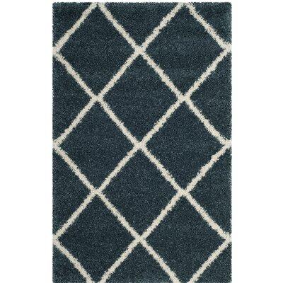 Humberto Shag Blue/Beige Area Rug Rug Size: 8' x 10'