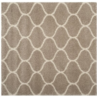 Humberto Shag Beige Area Rug Rug Size: Square 7