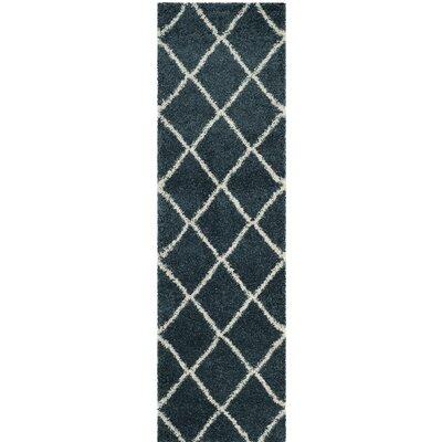 Humberto Shag Blue/Beige Area Rug Rug Size: Runner 23 x 8