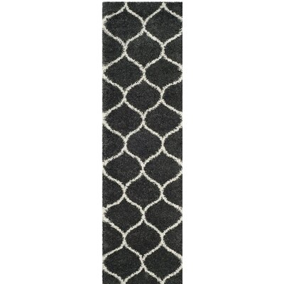 Hampstead Shag Beige/Black Area Rug Rug Size: Runner 23 x 8
