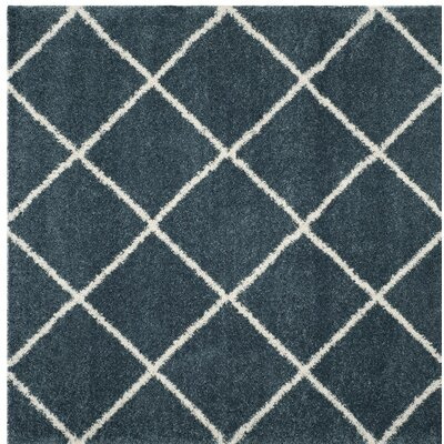 Humberto Shag Blue/Beige Area Rug Rug Size: Square 7