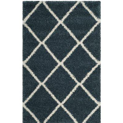 Humberto Shag Blue/Beige Area Rug Rug Size: 4' x 6'
