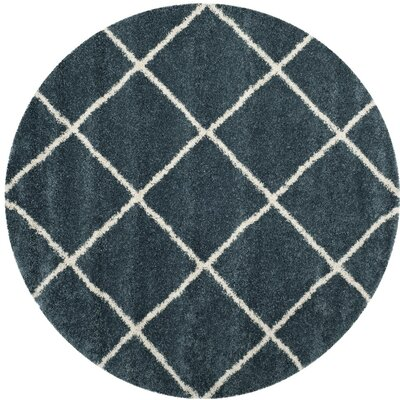 Humberto Shag Blue/Beige Area Rug Rug Size: Rectangle 3 x 5
