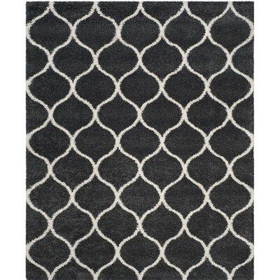 Hampstead Shag Beige/Black Area Rug Rug Size: 8 x 10