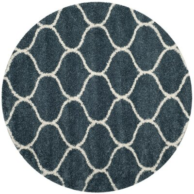 Humberto Shag Blue/Beige Area Rug Rug Size: Rectangle 51 x 76