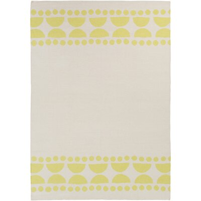 Gerner Hand-Woven Lime/Ivory Area Rug Rug size: Rectangle 8 x 11