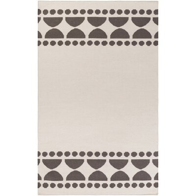 Gerner Hand-Woven Lilac/Ivory Area Rug Rug size: Rectangle 33 x 53