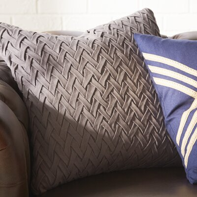 Easton Facade 100% Cotton Throw Pillow Cover Color: Gray, Size: 20 H x 20 W x 1 D