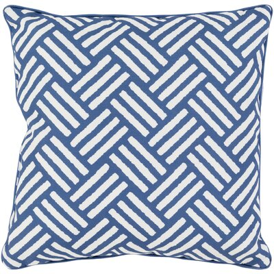Moyers Outdoor Throw Pillow Size: 20 H x 20 W x 4 D, Color: Cobalt