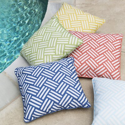 Moyers Outdoor Throw Pillow Size: 16 H x 16 W x 4 D, Color: Light Gray