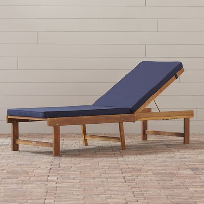 Matheny Lounge Chair Color: Teak Brown / Navy