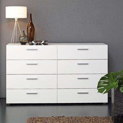 Lopiccolo 8 Drawer Dresser Finish: White