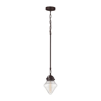 Manzo 1-Light Schoolhouse Pendant Finish: Oil Rubbed Bronze