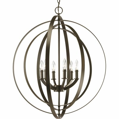 Morganti 6-Light Foyer Pendant Finish: Antique Bronze