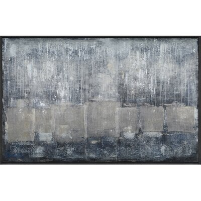 Grayscale Painting Print on Canvas
